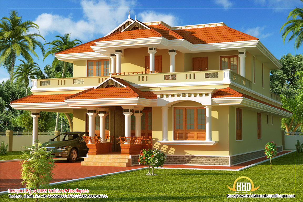 Traditional House  2808 sq. ft.  Kerala home design and floor plans