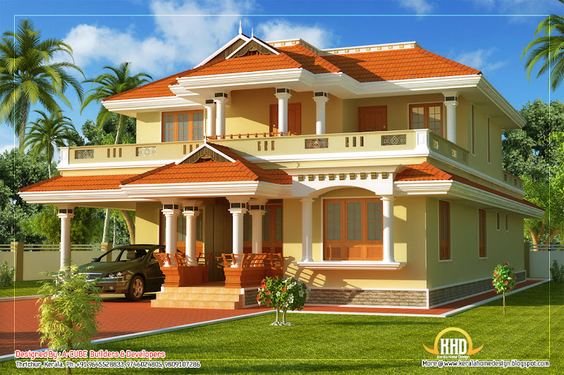 Kerala Style Traditional House - 261 Square meter (2808 Sq. Ft  title=