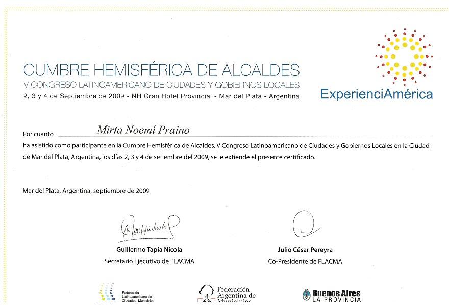 CUMBRE HEMISFERICA DE ALCALDES