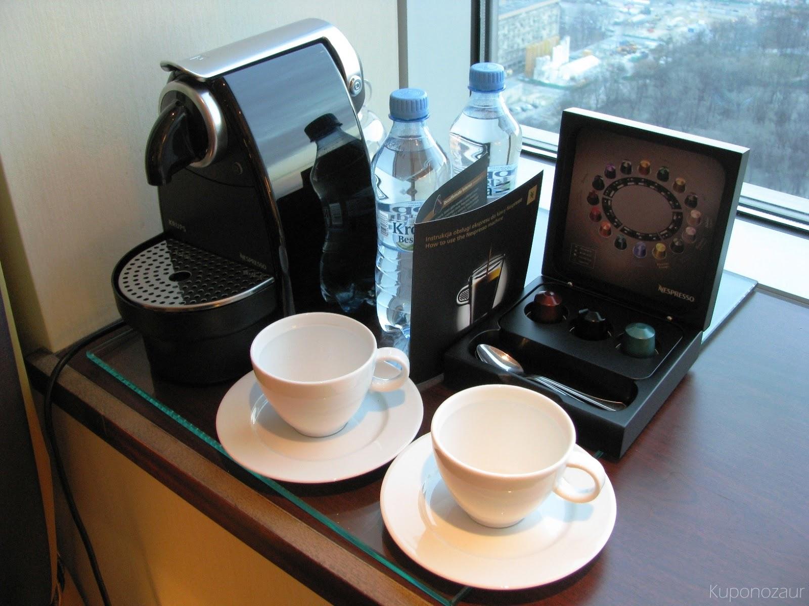 InterContinental Warszawa Nespresso w pokoju Deluxe