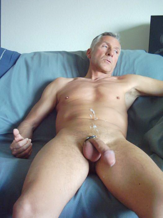 Beefy Guy Whacking Off Outdoor