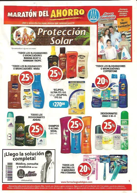 Circular primera quincena de abril Farmacias Guadalajara