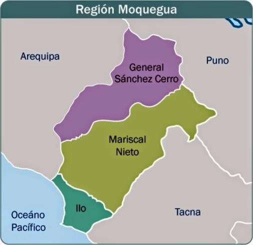 MOQUEGUA Y SUS PROVINCIAS