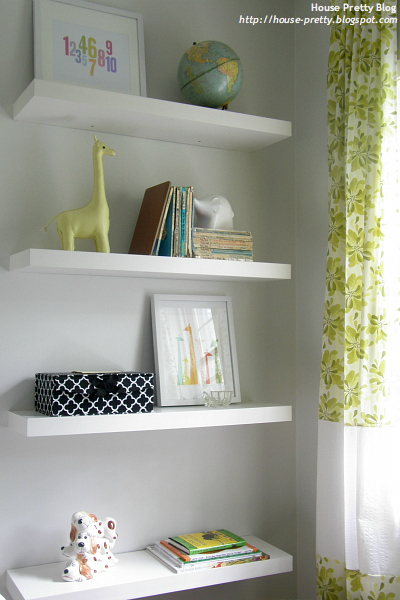 Baby Nursery Room Wall Shelves Ideas