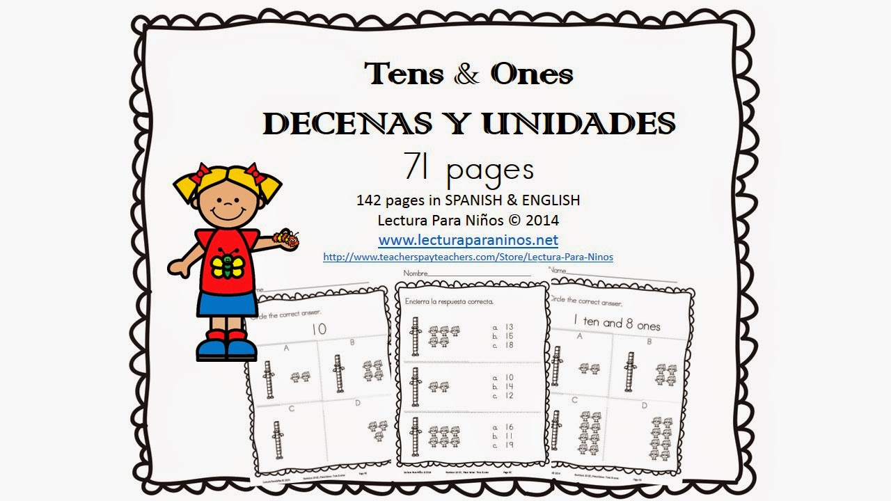 http://www.teacherspayteachers.com/Product/Decenas-y-unidades-Tens-Ones-PLACE-VALUE-SPANISH-ENGLISH-1189143