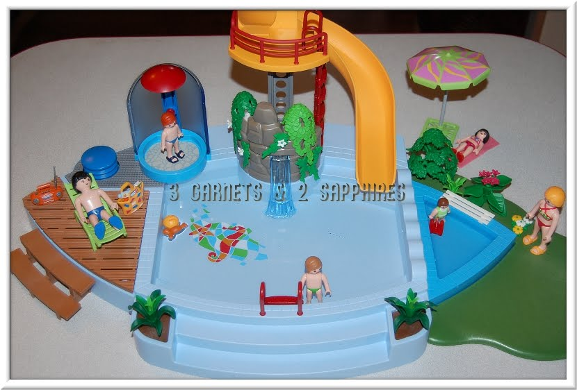 3 garnets 2 sapphires review playmobil pool with water - Playmobil swimming pool with waterslide ...