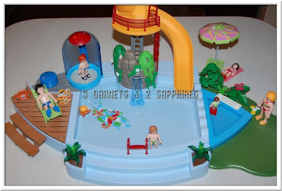 3 Garnets 2 Sapphires Review Playmobil Pool With Water Slide