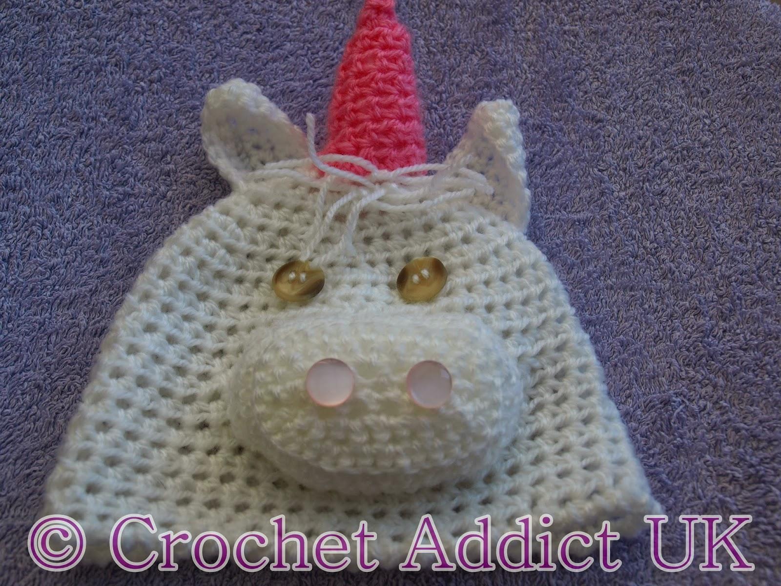 Crochet Unicorn Hat Pattern Free : ... Hat #Newborn - 12 months ~ #Free #Crochet Pattern ~ Crochet Addict UK