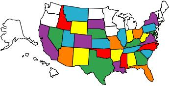 States I Have Ridden To from South Carolina