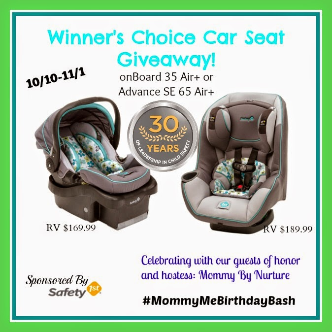 Ramblings of Mama: Safety 1st Winner's Choice Carseat Giveaway  #Win @Safety_1st Plumberry #Carseat  #MommyMeBirthdayBash #giveaway #onBoard 35 Air+ or the #AdvanceSE65 Air+ convertible seat