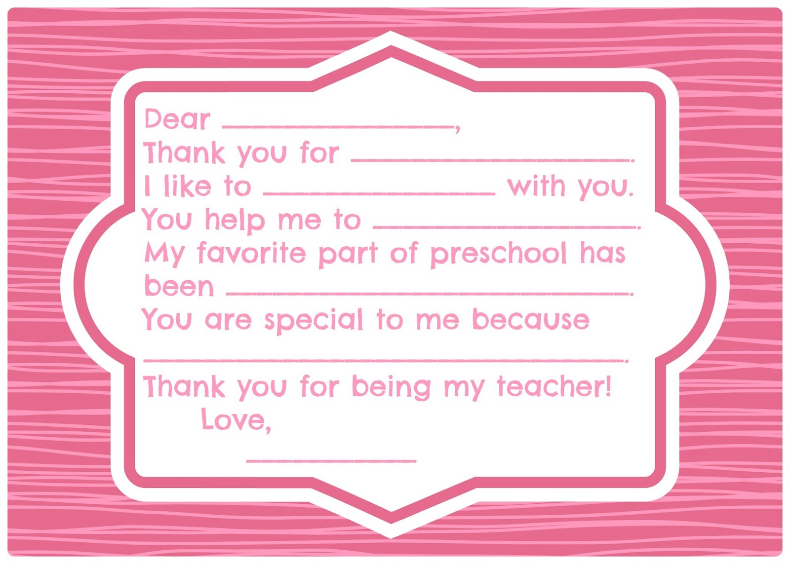 Printable Thank You Cards Sample Documents