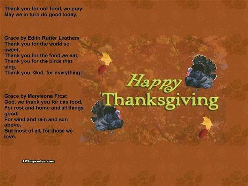 Free Thanksgiving Day Prayers For Kids