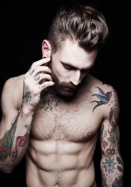 tattoos men chest words