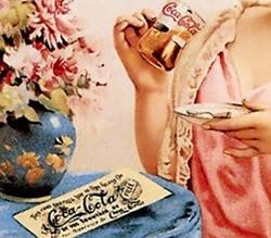 Propaganda de 1890 da Coca-Cola em que apresentavam benefícios do produto à saúde.