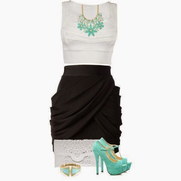 Black and White Party Outfits...