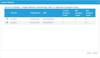選擇要使用AzureWatch服務的角色