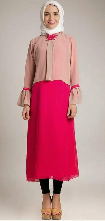 Desain Baju Dress Muslim Model Terbaru 2017
