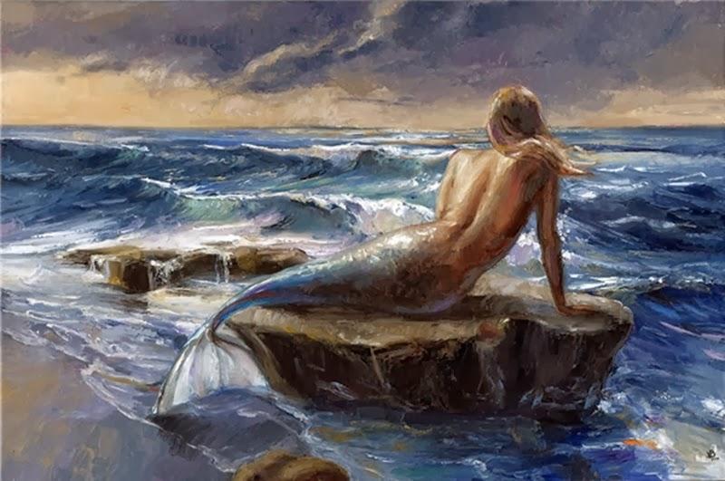 D.W.C. Mermaid - Painter Victor Bauer