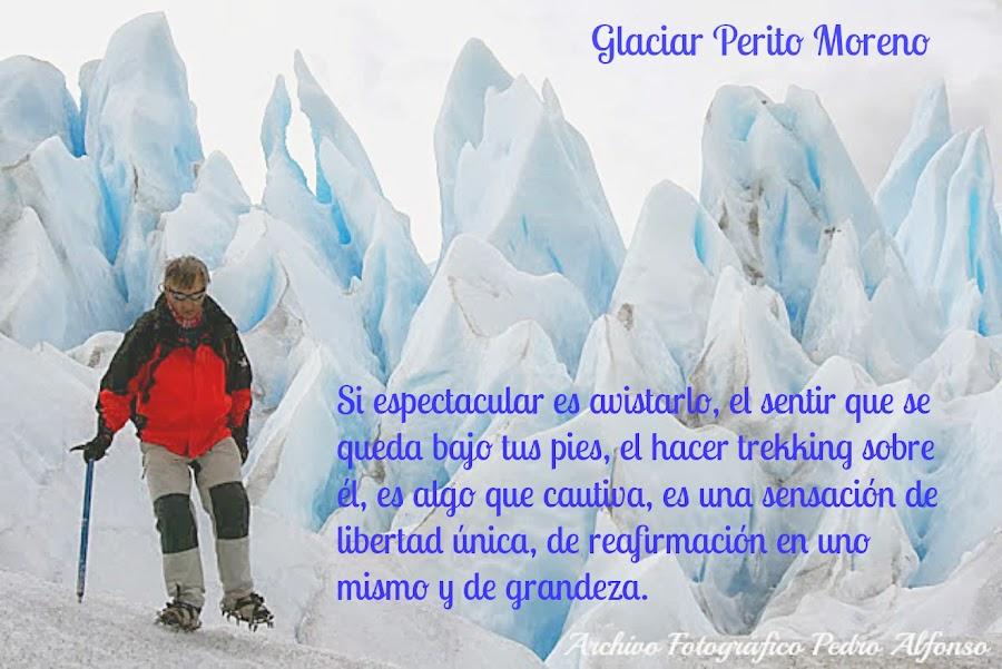 Trekking en el Glaciar Perito Moreno. Argentina