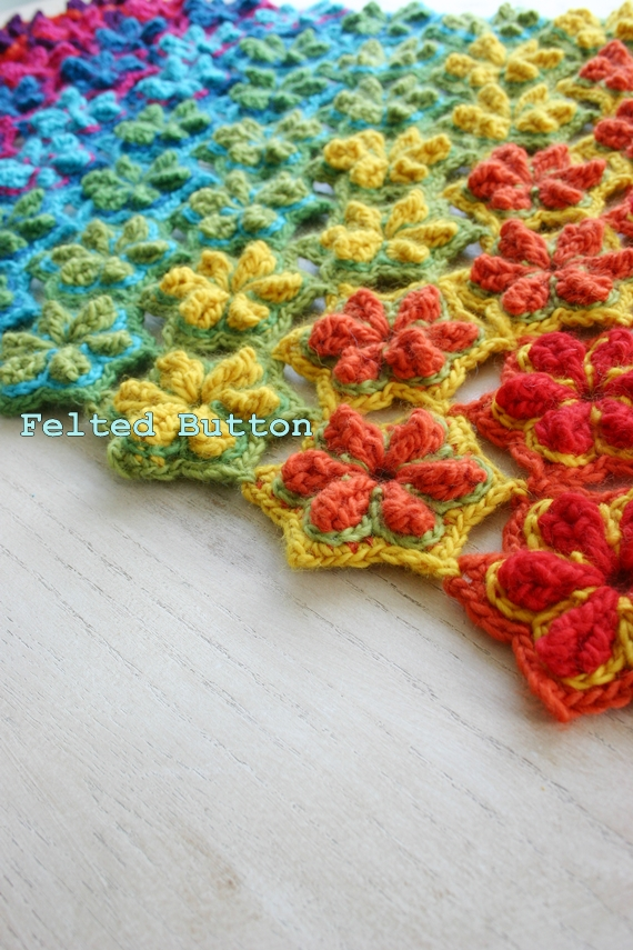Felted Button - Colorful Crochet Patterns: ::Star Fruit ...