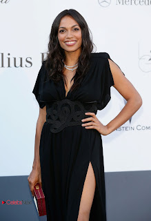 Rosario Dawson Pictures in Evening Dress at amfAR's 20th Cinema Against AIDS Event in Cannes 0002