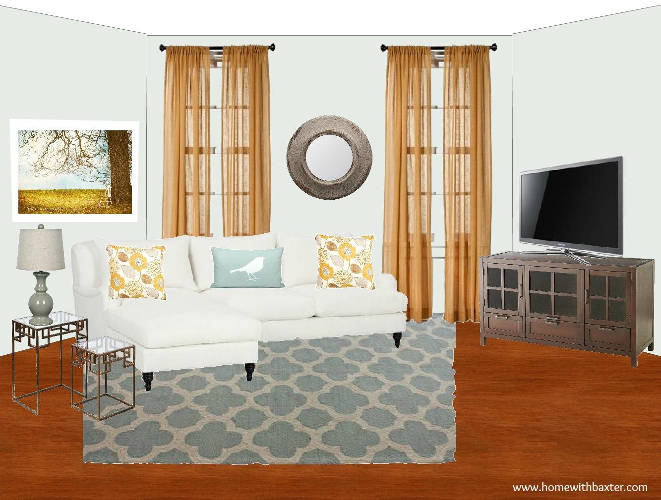 home with baxter design board blue and gold family room design board blue and gold family room