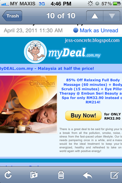 85% Off relaxing full body massage (60 minutes) + Body Scrub (15 minutes) + ...