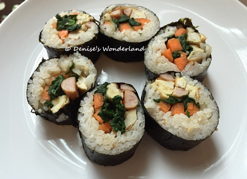 Korean seaweed rice roll