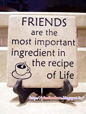 The Recipe Of Life | Beautiful Friendship Quote Wallpaper In English