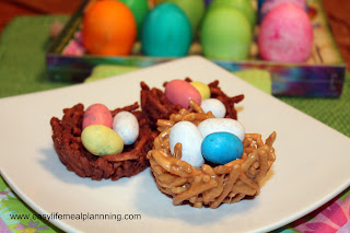 Easter Chocolate & Peanut Butter Birds Nests - Easy Life Meal & Party Planning
