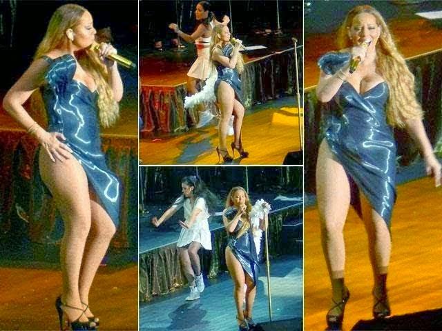 Gambar Aksi Hot Penyanyi Terkenal Di Atas Pentas Tersebar