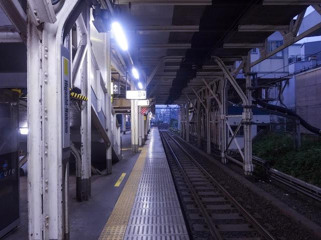ホーム,線路,東中野駅〈著作権フリー無料画像〉Free Stock Photos