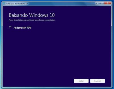 Baixando o Microsoft Windows 10