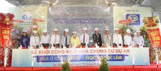 Nghi thức khởi công Khối nhà chung cư Dự án Nhà ở xã hội HOF-HQC Hồ Học Lãm