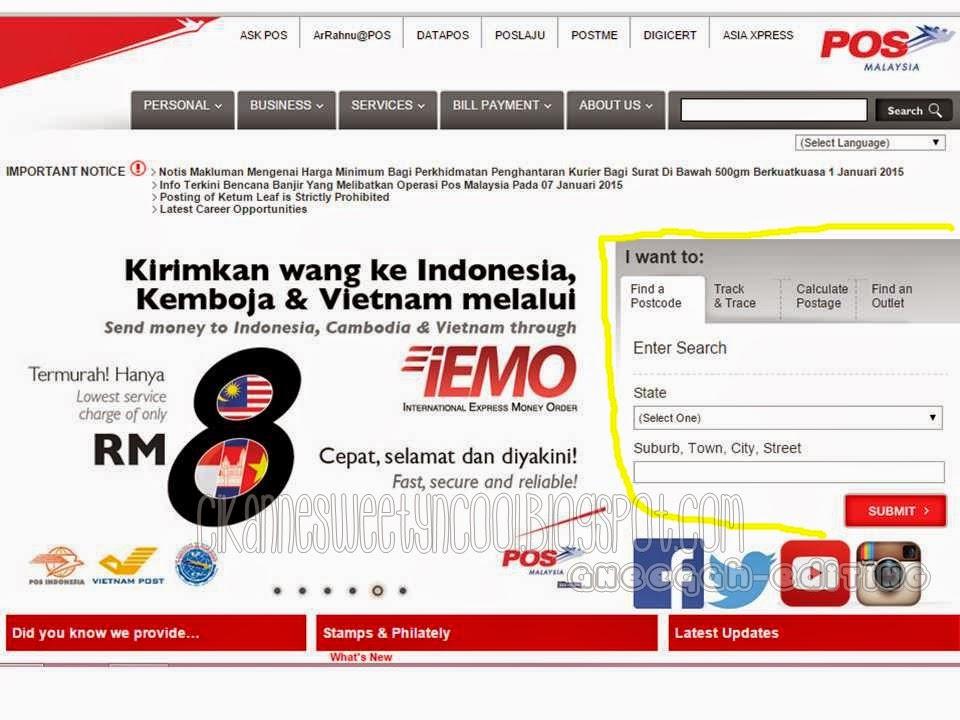 page pos malaysia