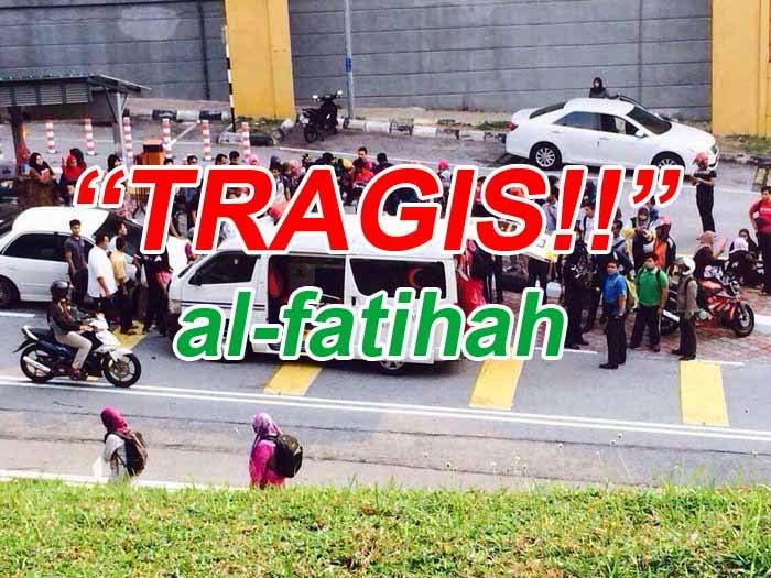 Fatin Farah Faraddia Pelajar UITM Shah Alam Maut Dilanggar Kereta