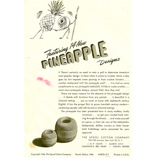 Vintage Pineapple Doily Pattern Book