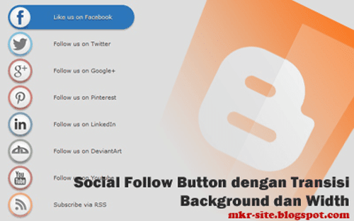 css3 animated social media widget blogger