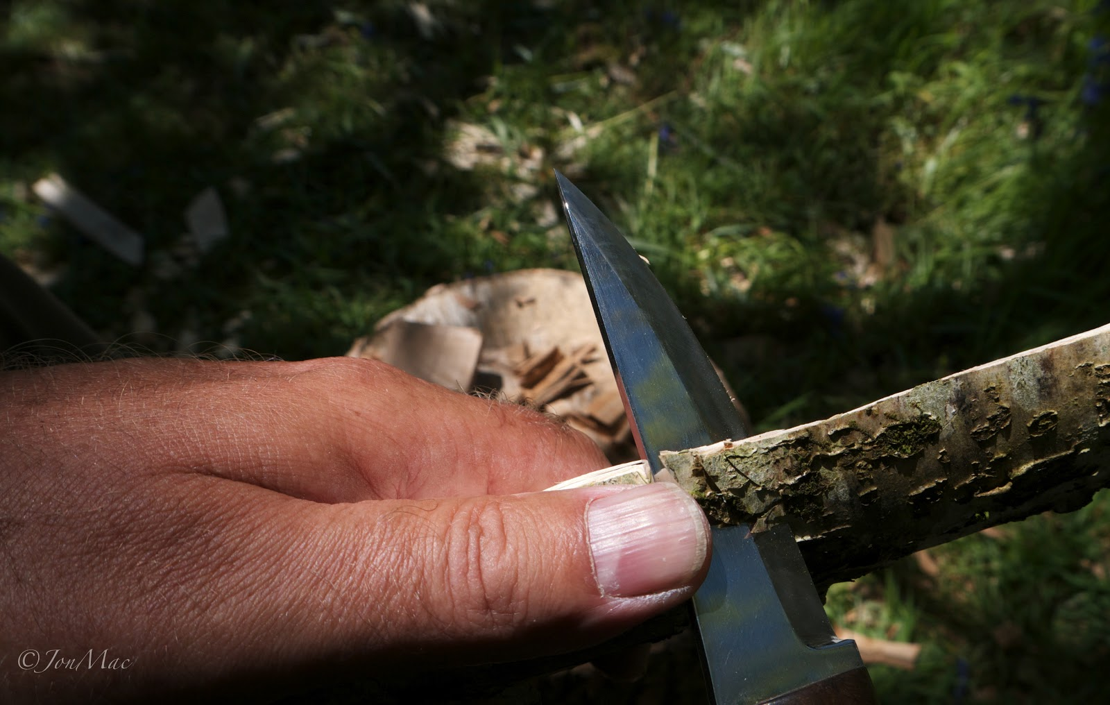 hazel+bushcraft knife+machris bushcraft knife
