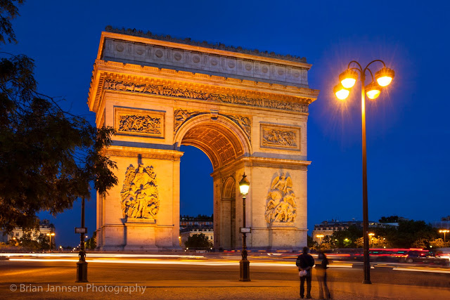 The Arc de Triomphe commemorates the lost souls of the French Revolution and is the site of the Tomb of the Unknown Soldier from WWI.