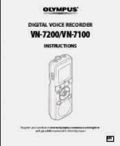 OLYMPUS DIGITAL VOICE RECORDER VN-750 INSTRUCTION MANUAL