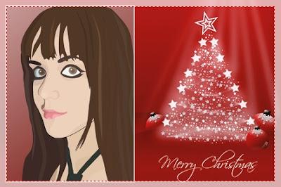 foto en dibujo postales de navidad