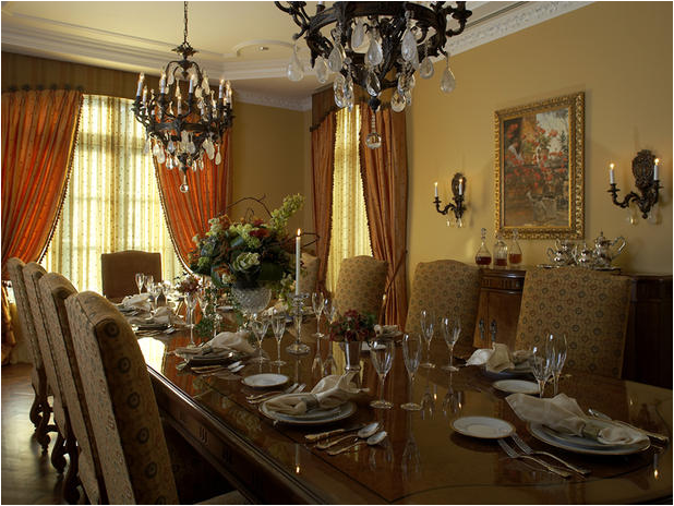 Traditional dining room design ideas home decorating ideas for Dining room themes decor