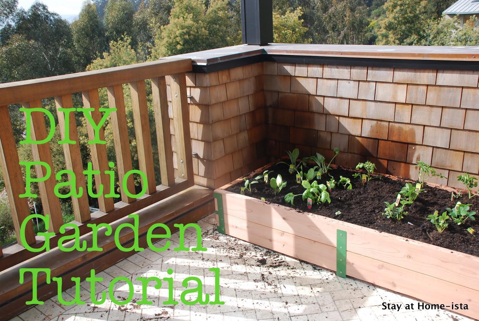 Stay at Home-ista: A DIY Patio Garden