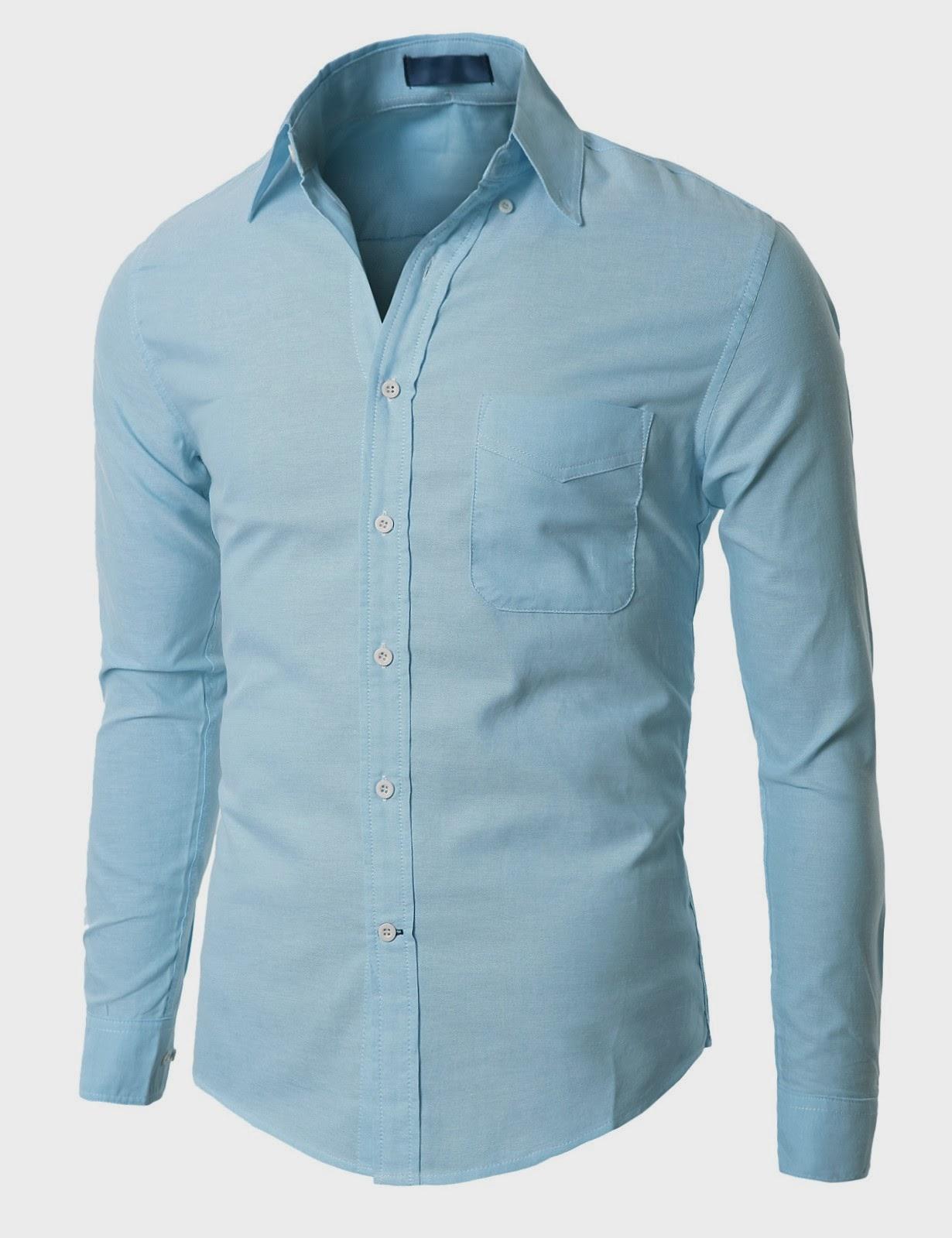 Blue Men Dress Shirt