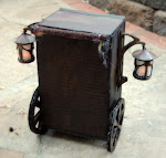 Small scale replica of Twig Theatre cart