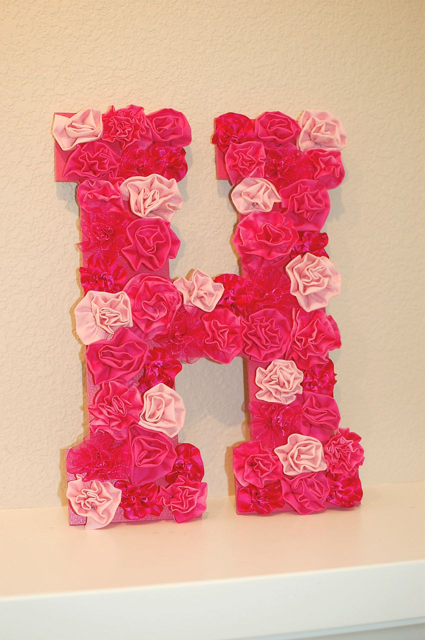 Pinkie for pink diy letter wall decor Wall letters decor