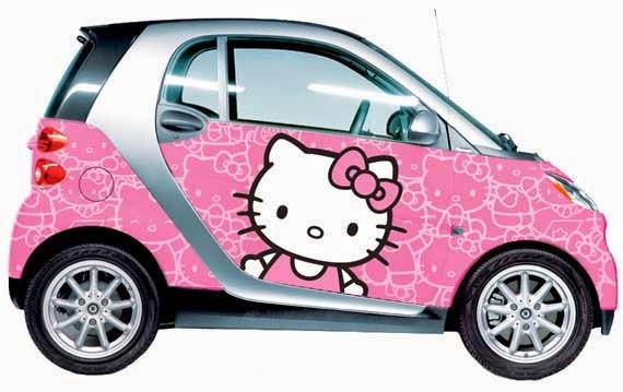 Gambar Mobil Hello Kitty Lucu Terbaru Wallpaper Hello Kitty Unik