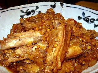 手羽中とレンズ豆の中華風煮込み