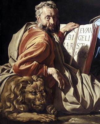 En la imagen San Marcos evangelista apoyado en el leon